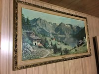 brown wooden framed painting of house Los Angeles, 91331