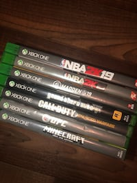 assorted Xbox One game cases Fort Washington, 20744