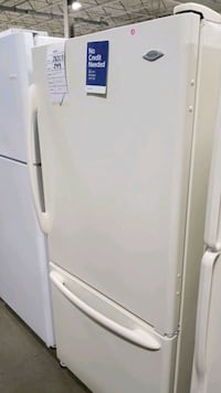 Maytag bisque bottom mount refrigerator 33x66.