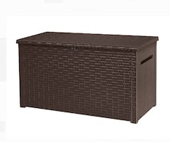 230 Gallon Plastic Deck Storage Container Box Outdoor Patio Garden Furniture Poolside Lawn Organizer