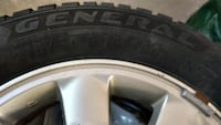 4 Toyota aluminunm aloy rims with winter tires Lethbridge, T1J 4S8