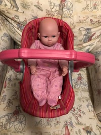 Baby Toy Car seat/Carrier and Baby Doll