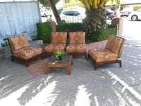 Indoor/Outdoor Armless Wood Gridback Chairs Richmond, 94806