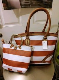 white and red leather tote bag Corona, 92882
