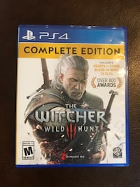 Sony ps4 the witcher wild hunt game Rogers, 72758