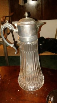 Very old glass pitcher very heavy Jacksonville