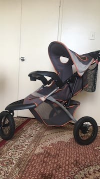 baby's black and gray jogging stroller Toronto, M4H 1L1