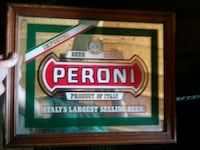 brown wooden framed Peroni Jersey City, 07305