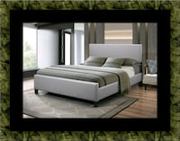 Grey platform bed with mattress all sizes Rockville, 20847