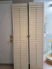 Sliding door shutters..in picture they are folded