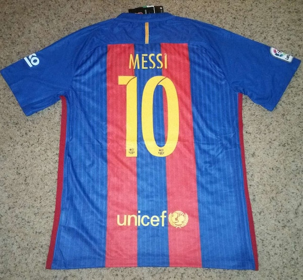 8fbb4fe06 Used unicef messi 10 red blue jersey shirt for sale in Upland - letgo