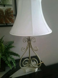 Large table lamp with white shade