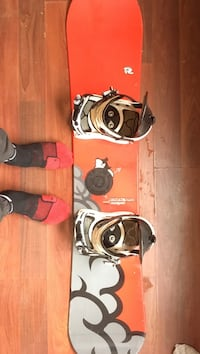 Red and gray snowboard with bindings London, N6J 1M5