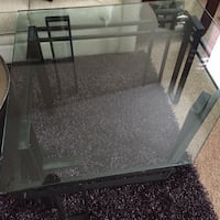 """Very heavy duty contemporary coffee table. will need help carrying both pieces, equally heavy. measures 40"""" across, (notice unique shape) & 24"""" high. pick up in grimes. cross posted $75  Grimes, 50111"""