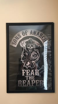 Sons of Anarchy poster With frame 24x36 GREAT CONDITION