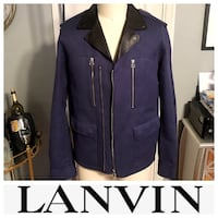 Men's Lanvin biker jacket size 52 (XL) leather paid $3,800 excellent condition. Only worn twice!