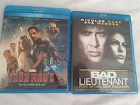 Iron man 3 & Bad lieutenant both for 7.00 Blu-ray West Valley City, 84120