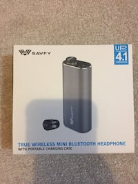 SAVFY True Wireless Headphone Mini Bluetooth Headphones. NEW