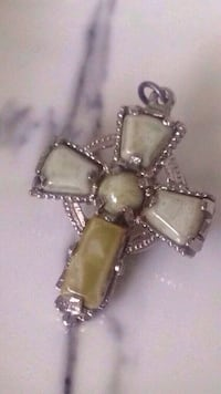 Stone Cross Pin Pendant Duo Edmonton, T6E 0M1