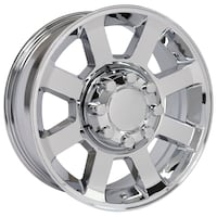 chrome multi-spoke auto wheel Sterling Heights, 48310