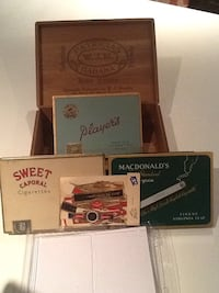 Collector tins and wooden case Markham, L3T 3L7