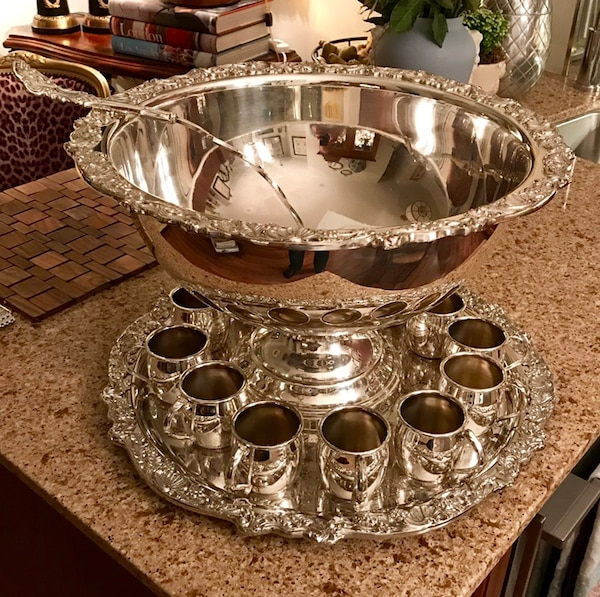 Rogers silver plated punch bowl