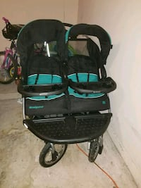 baby's black and teal twin stroller Humble, 77338