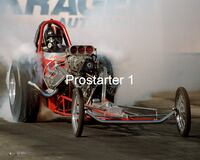 8x10 Color Drag Racing Photo GERRY STEINER Nostalgia AA Fuel Dragster 1986 Bakersfield Smyrna