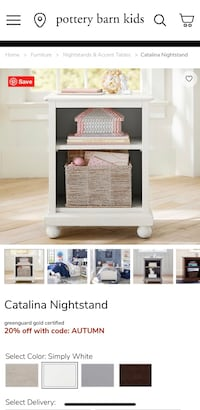 Pottery Barn Catalina Twin Bed 2 available with nightstand  Bethesda, 20814