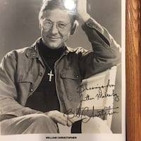 Signed Mash Picture Bill Christopher Pittsburgh