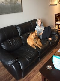 FREE 3 seater faux leather recliner sofa  Calgary, T2X 3K2