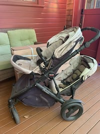 Britax B-ready stroller with a second seat and bassinet
