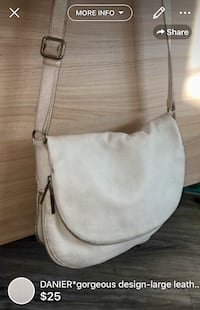 DANIER*gorgeous design-large leather bag used but loved retailed over 150$