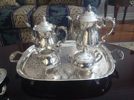 Silver coffee / tea pot set
