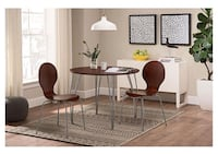 Brown round dining table and 3 chairs Quincy, 02169