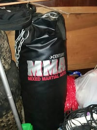 black MMA punching bag Cooperstown, 16317