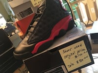 unpaired black and red Air Jordan 13 shoe with box Woodbridge, 22191