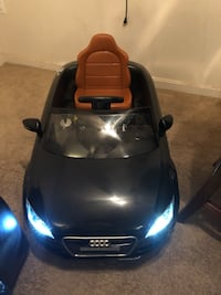 Audi 12V Electric Ride On Vehicle, Manual Modes w/ MP3, Radio LED Headlights, Perfect for Kids as (Black) Woodbridge, 22191
