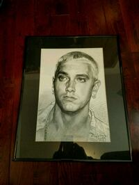 sketch of Eminem with black steel frame Toronto, M4K 2P7