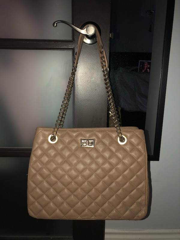 Beige and Gold purse FROM ITALY
