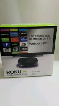 black Roku TV box with remote Ashburn, 20147