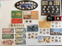 1917-2000 Lot of Assorted Canadian Coin Sets, Tokens & Banknotes