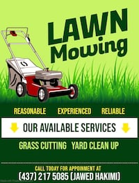 Lawn mowing and Yard Clean Up Pickering