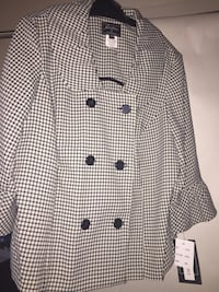 white and black button-up coat Houston, 77063