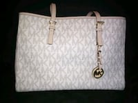 white and gray Michael Kors leather tote bag Clover, 29710