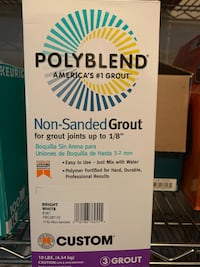 2 boxes: Polyblend #381 Bright White 10 lb. Non-Sanded Grout Upper Marlboro, 20774