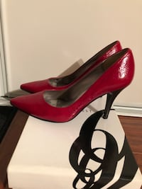 Nine West red nigh heel shoe Size: 6 Markham