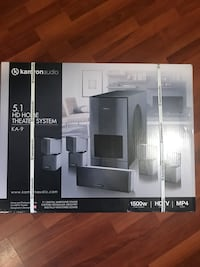 blackKamron Audio 5.1 home theater system