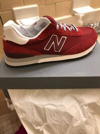 unpaired red New Balance low-top sneaker Baltimore, 21230
