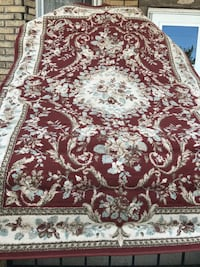 brown and white floral area rug Clifton, 07011